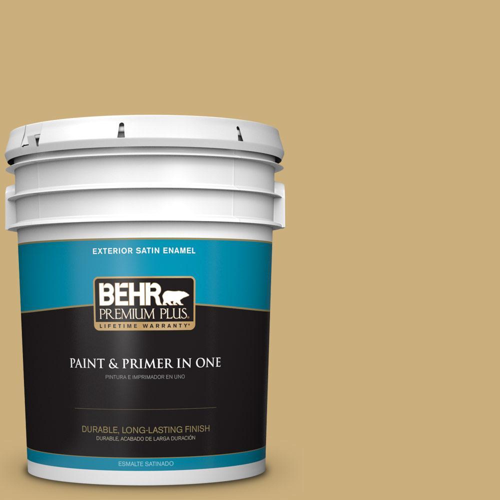 5 gal. #PPU6-16 Cup of Tea Satin Enamel Exterior Paint