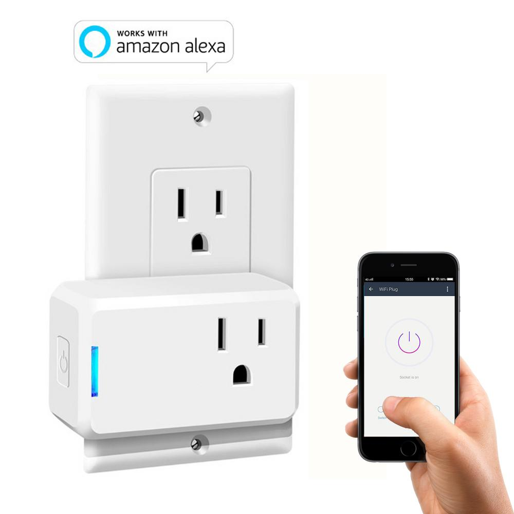 Wi-Fi Mini Smart Plug Works with Alexa for Voice Control Save Energy ...