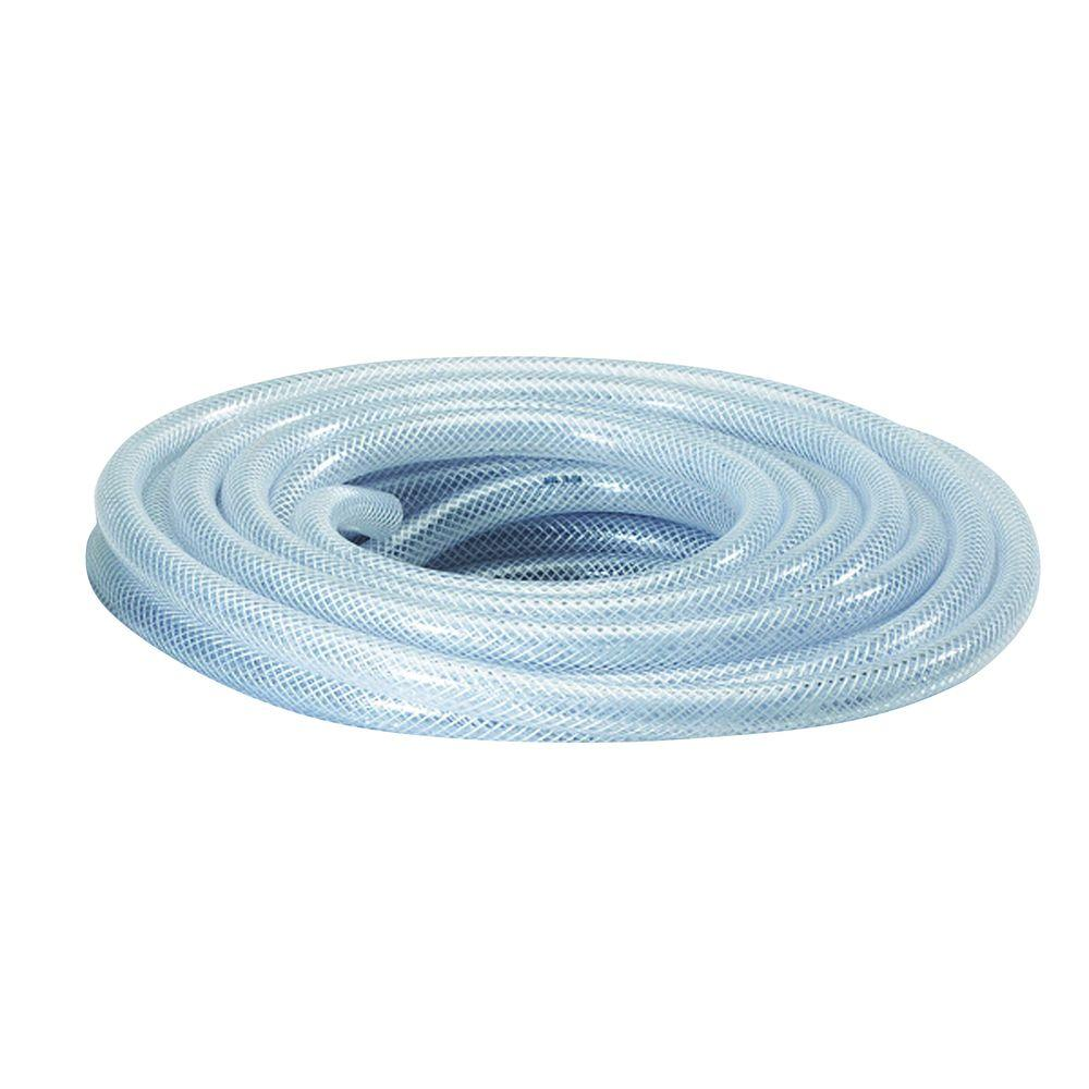 Everbilt 1 3 8 In O D X 1 In I D X 24 In Clear Pvc Braided Vinyl Tube Hkp002 Pvc006 The Home Depot