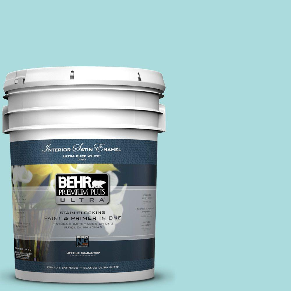 BEHR Premium Plus Ultra 5-gal. #M460-2 Beachside Drive Satin Enamel Interior Paint