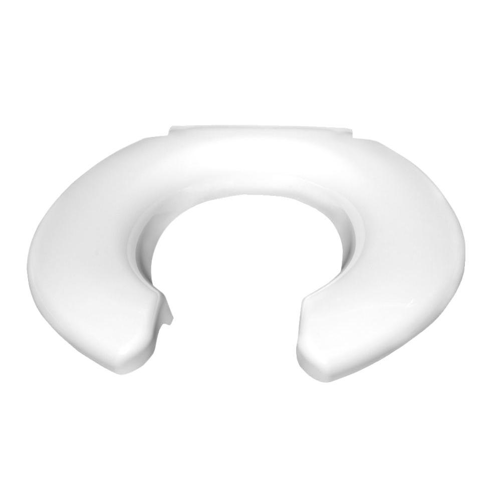 Big John Elongated Open Front Toilet Seat In White 2445263