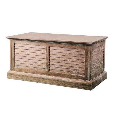 Wedlyn Burnt Oak Louvered Trunk Cocktail Table