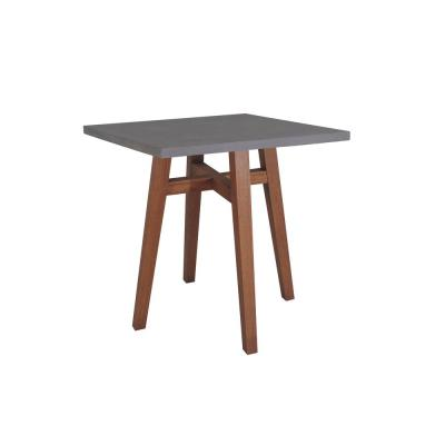 Square Wood Counter Height Outdoor Dining Table