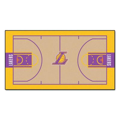 NBA Los Angeles Lakers 3 ft. x 5 ft. Large Court Runner Rug