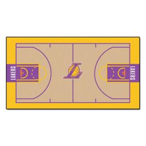 Fanmats Nba Los Angeles Lakers 3 Ft X 5 Ft Large Court