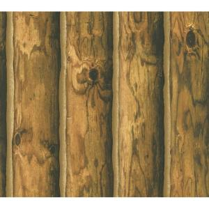 York Wallcoverings Mountain Logs Wallpaper by York Wallcoverings