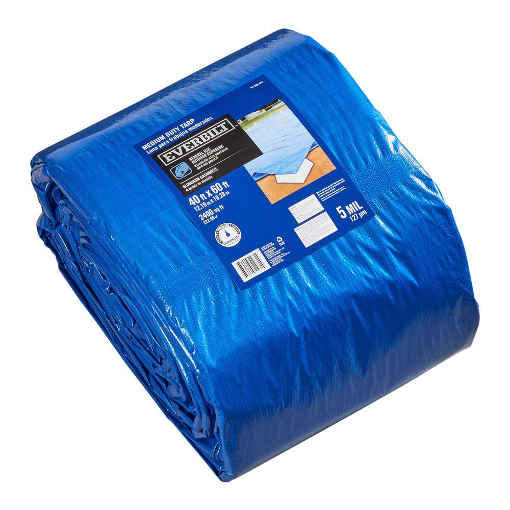 blue medium duty general purpose tarp