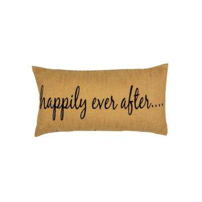 Large Happily Oblong Pillow