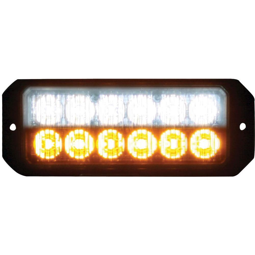 12 Amber/Clear LED 5 in. Mini Strobe Light