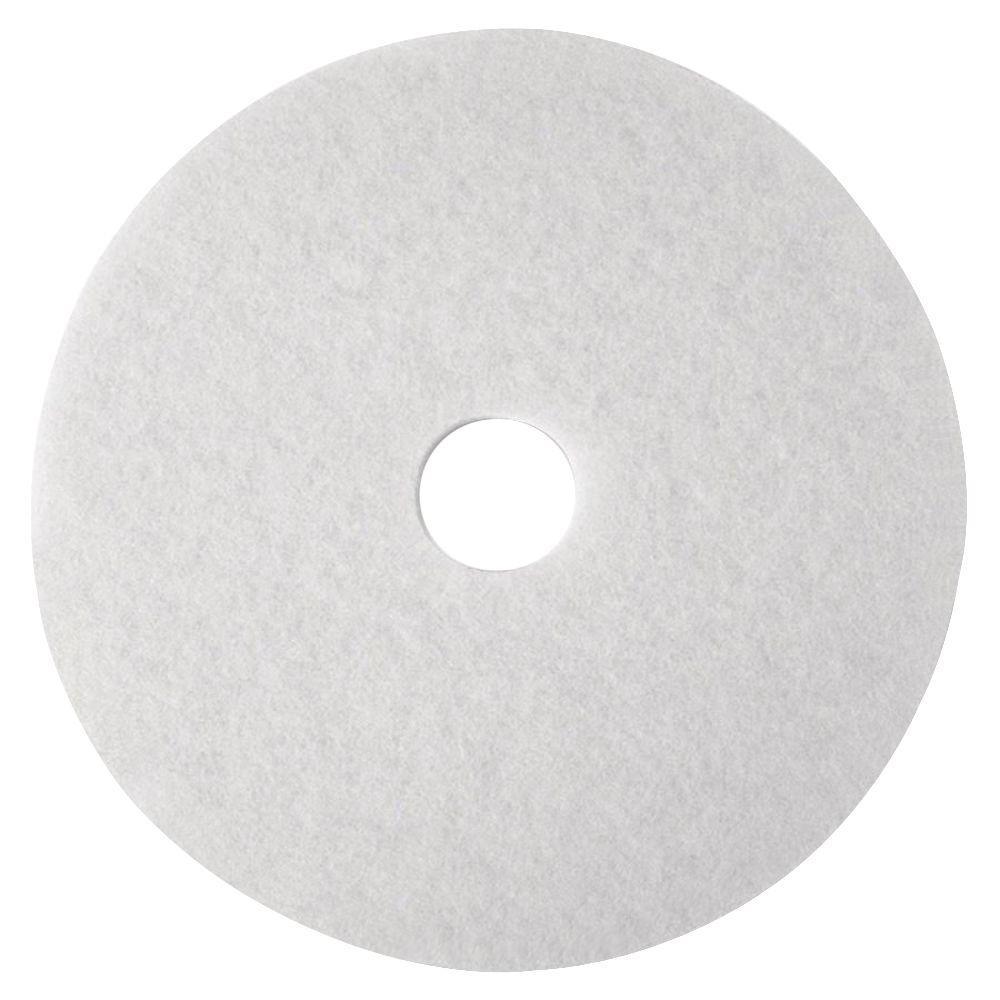 16 in. White SuPer Polish Pads (5 Per Carton)