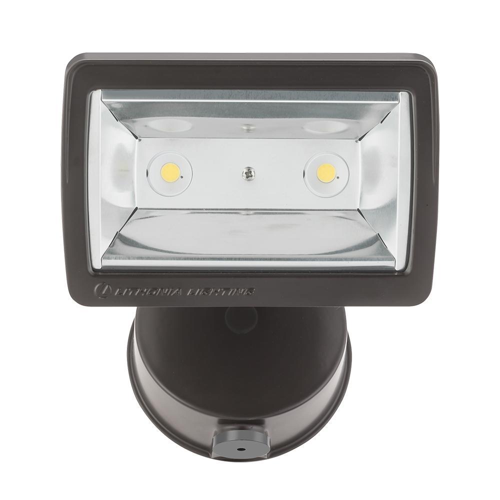 25-Watt Dark Bronze Integrated LED Outdoor Flood Light