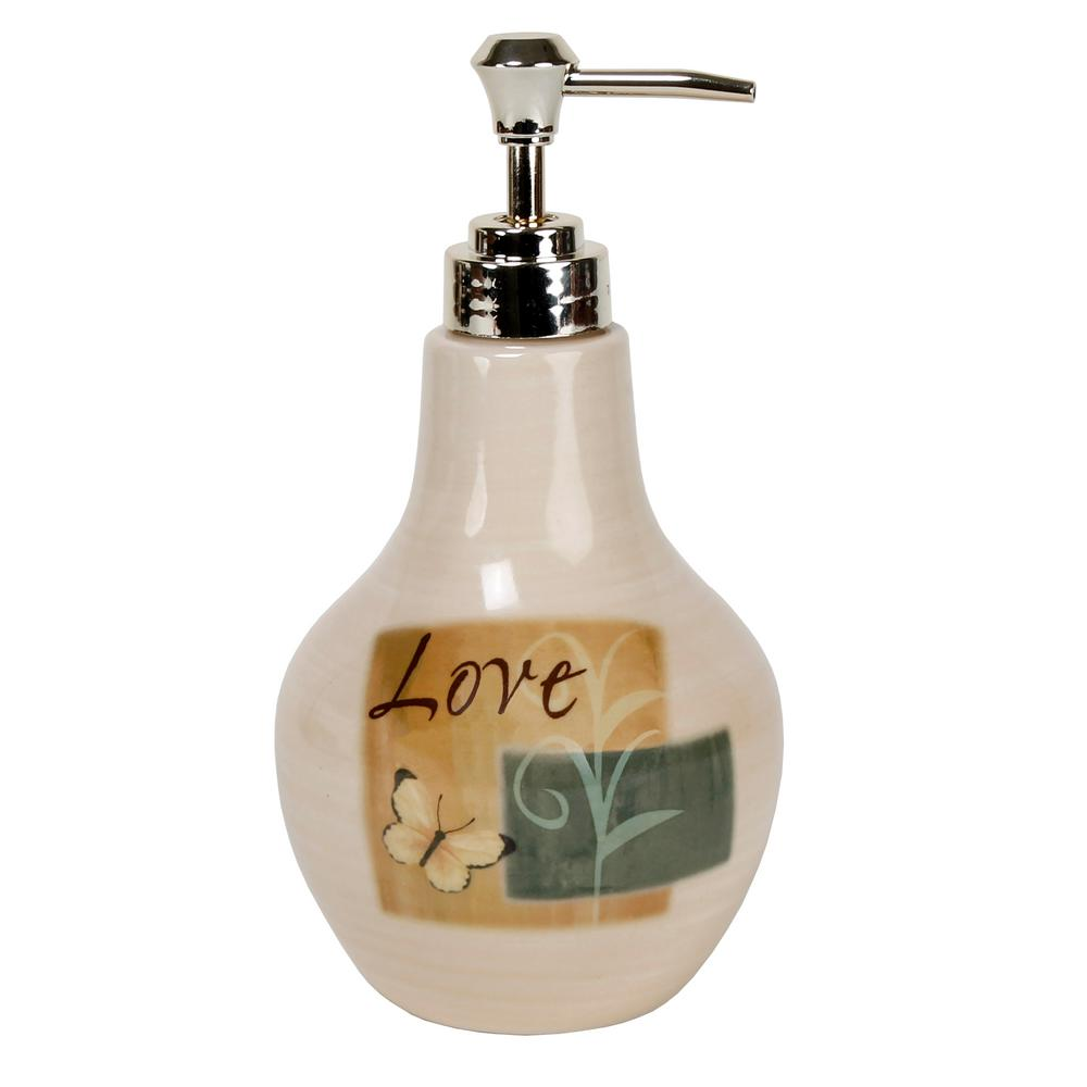 Saturday Knight Tranquility Freestanding Lotion Dispenser in Earthtone