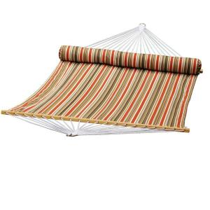 Algoma 13 ft. Quilted Reversible Hammock in Orange Stripe with Matching Pillow by Algoma