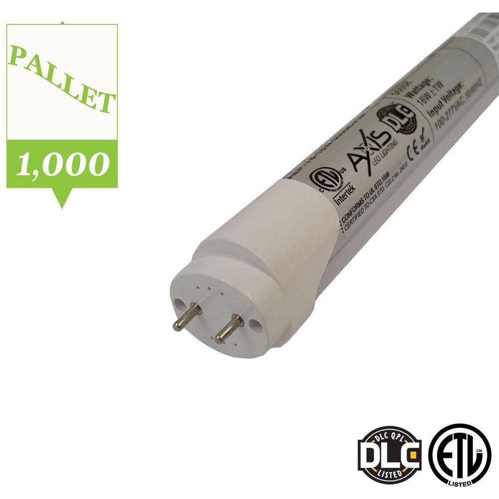 Axis LED Lighting 4 ft. T8 16-Watt Daylight LED Tube Light Bulb (Pallet of 1000 Bulbs)
