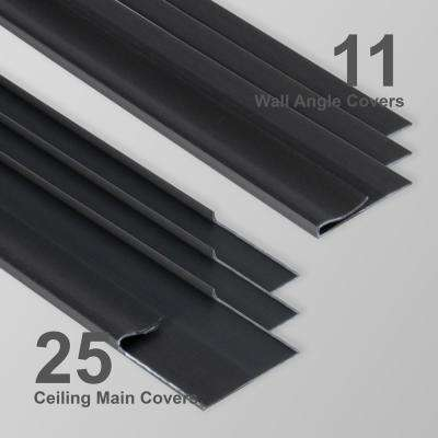 EZ-On Grid Cover Kit - Snap On - Onyx - 52 sq. ft.
