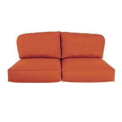 Northshore Replacement Outdoor Loveseat Cushion in Cinnabar