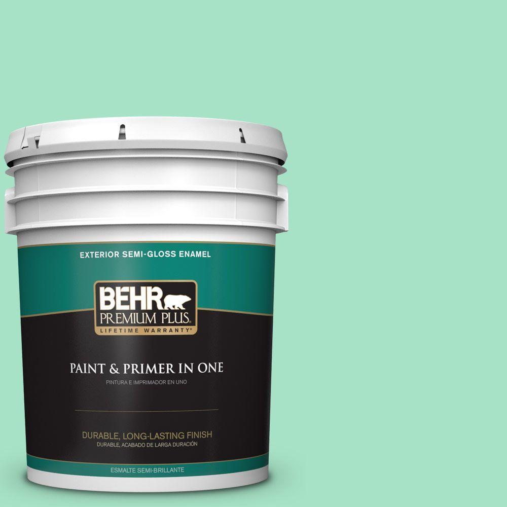5-gal. #470A-3 Reef Green Semi-Gloss Enamel Exterior Paint