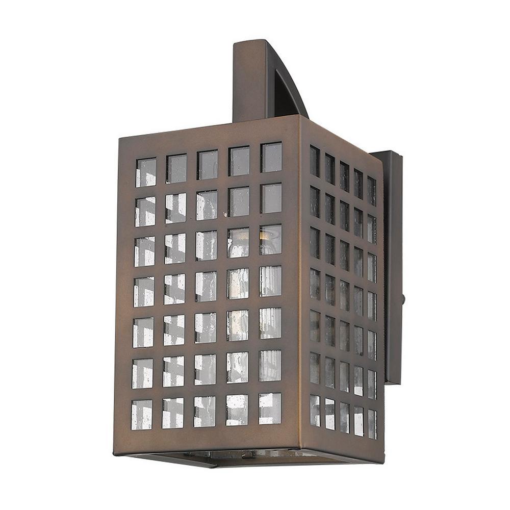 Letzel 1-Light Oil-Rubbed Bronze Outdoor Wall Light