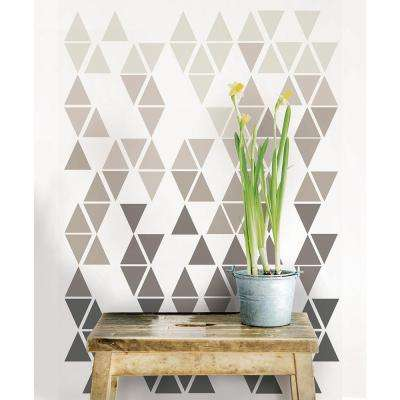 39 in. x 17.25 in. Pyramid Wall Decal