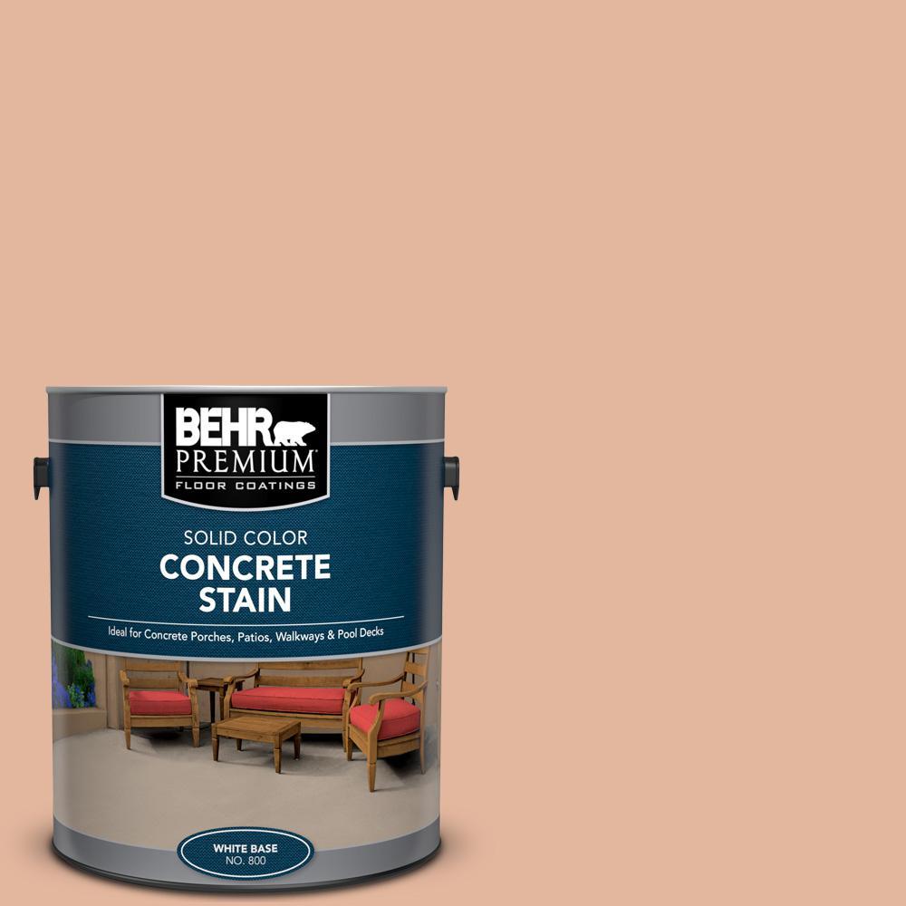 BEHR Premium 1 gal  #PFC-06 Georgia Peach Solid Color Flat  Interior/Exterior Concrete Stain