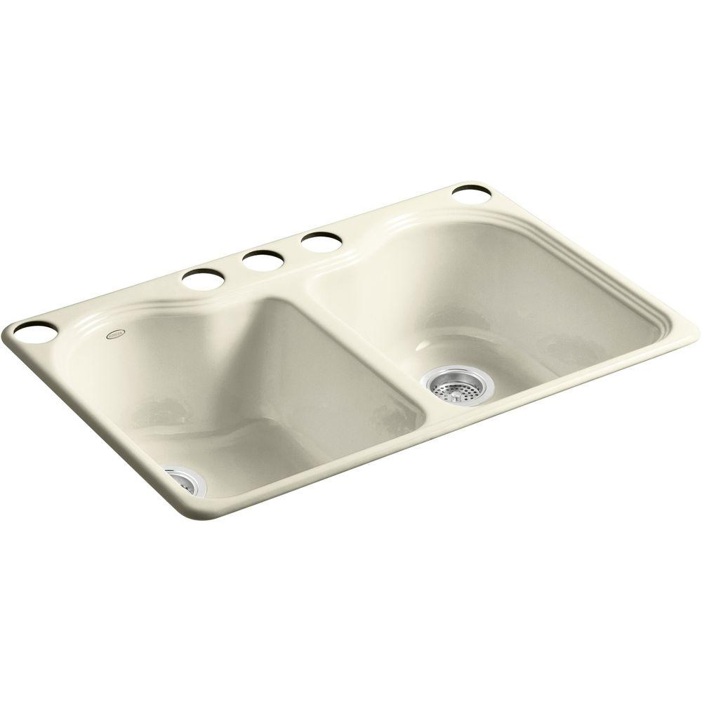 Inch Kitchen Sinks Biscuit Color