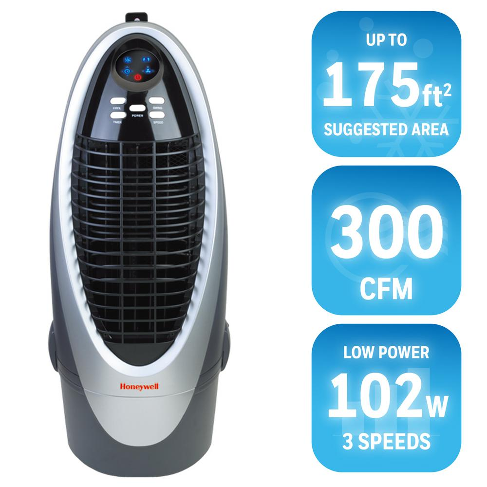 Honeywell 300 CFM 4 Speed Indoor Portable Evaporative Cooler For 175 Sq.  Ft. CS10XE   The Home Depot
