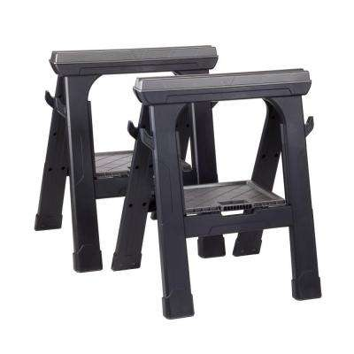 Heavy Duty 27.3 in. Folding Sawhorse (2-Pack)