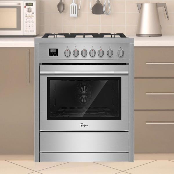 36 in. 3.9 cu. ft. Slide-In Gas Range with Convection Single Oven and 6 Burners in Stainless Steel