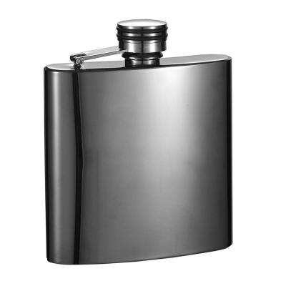 Outlaw II Gunmetal Short Liquor Flask