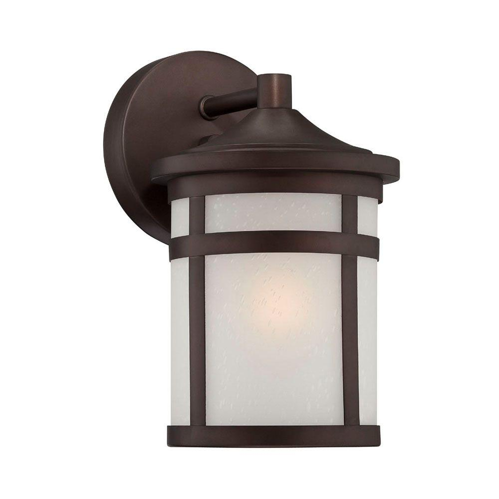 Acclaim Lighting Visage Collection 1-Light Architectural Bronze Outdoor Wall Mount Light Fixture