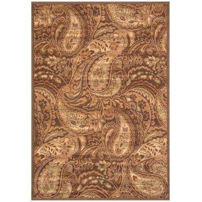Essentials Paisley Brown 7 ft. 9 in. x 10 ft. 8 in. Area Rug