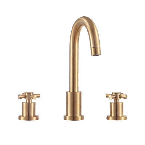 Messina 8 in. Widespread 2-Handle Bathroom Faucet in Matte Gold