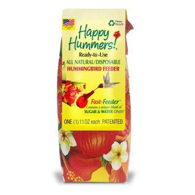 11 fl. oz. Disposable Prefilled Hummingbird Fast-Feeder with 100% Sugar and Water Ready-to-Use Nectar