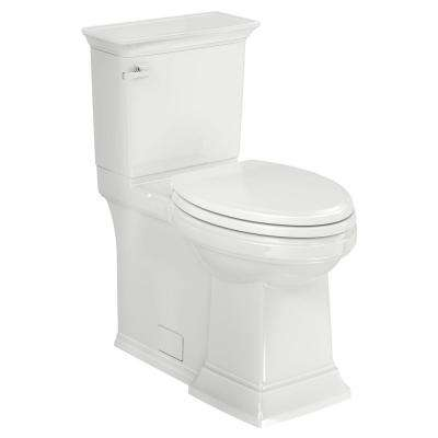 Town Square S Right Height 2-Piece 1.28 GPF Single Flush Elongated Toilet in White Seat Included