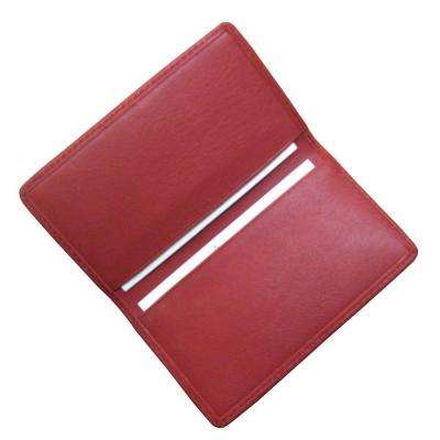 Red Business Card Case in Genuine Leather