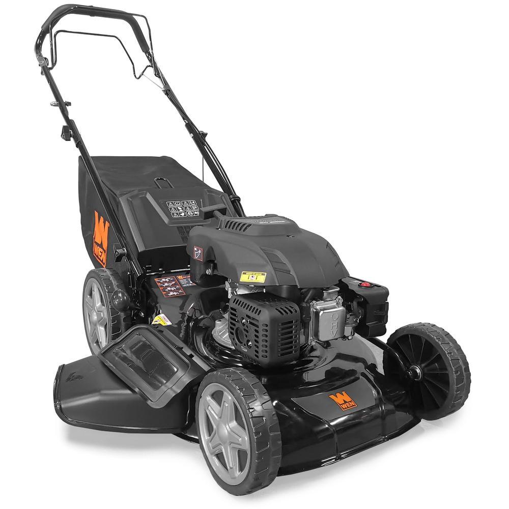 WEN 21 in. 173 cc Gas-Powered 4-in-1 Walk Behind Self-Propelled Lawn Mower