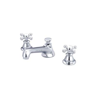 8 in. Widespread 2-Handle Century Classic Bathroom Faucet in Triple Plated Chrome with Pop-Up Drain