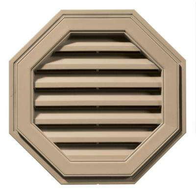 22 in. Octagon Gable Vent in Tan