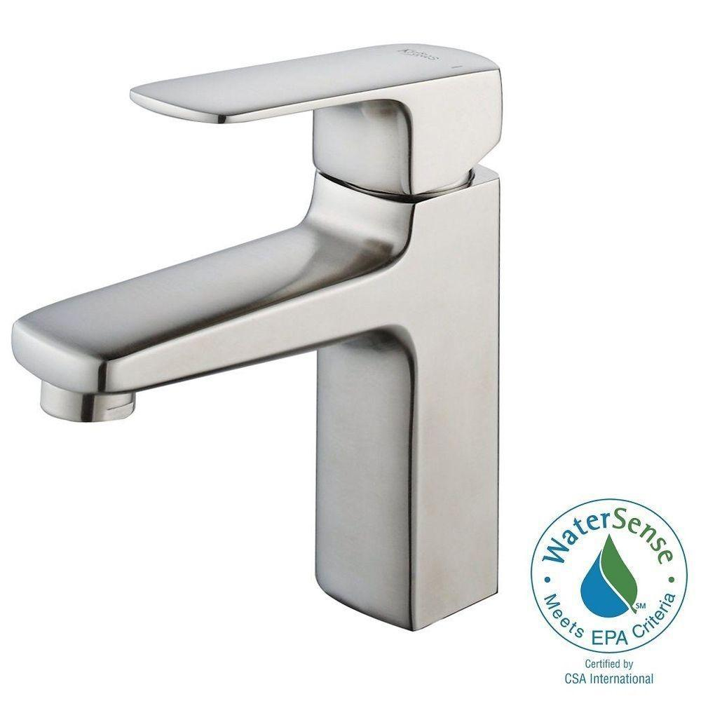 Virtus Single Hole Single-Handle High-Arc Vessel Bathroom Faucet in Brushed