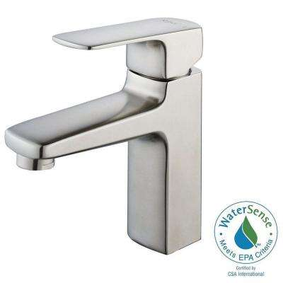 Virtus Single Hole Single-Handle High-Arc Vessel Bathroom Faucet in Brushed Nickel