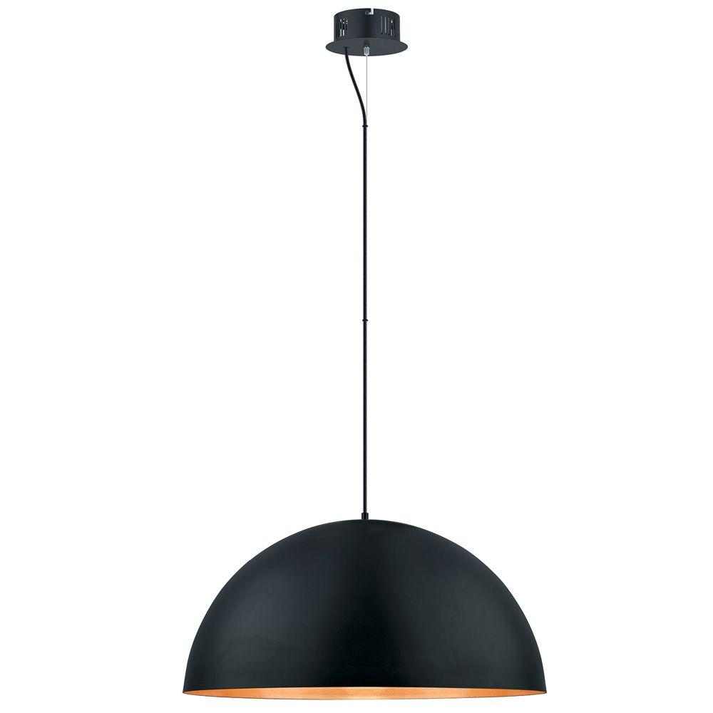 Eglo Gaetano 100-Watt Black Integrated LED Pendant-201295A - The Home Depot