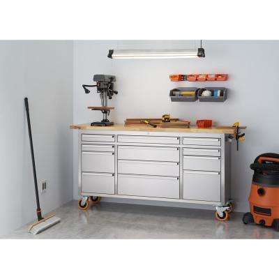PRO 6 ft. 12-Drawer Workbench with Storage