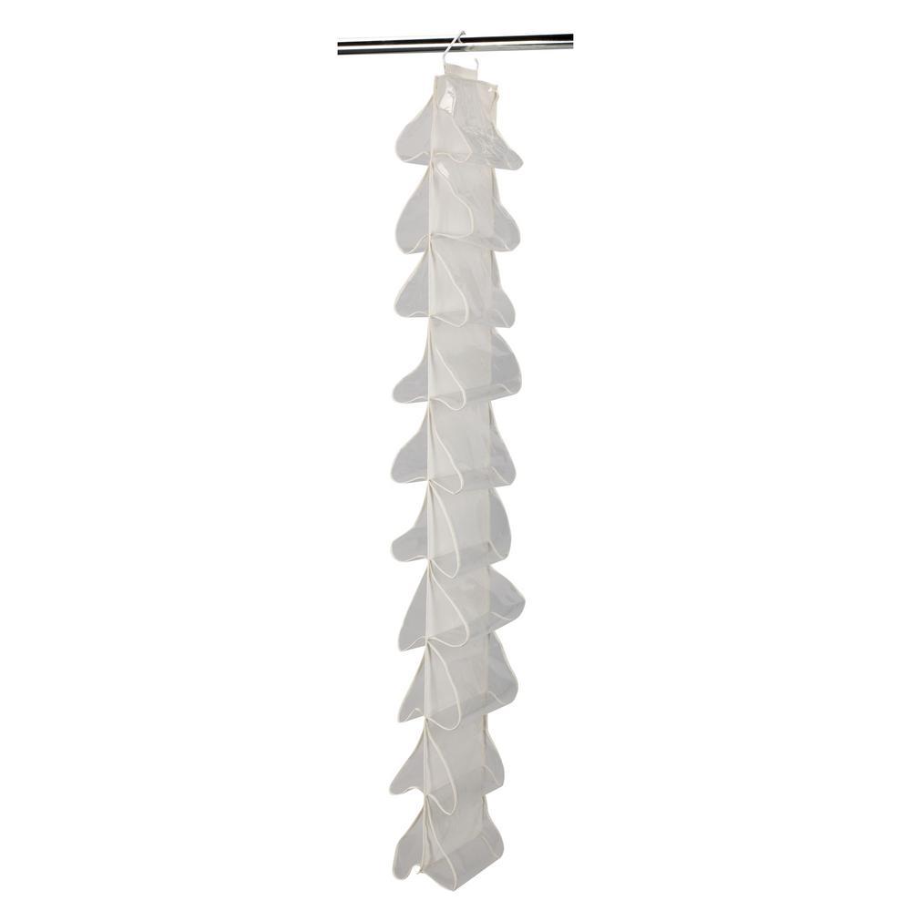 df5f708518900 Household Essentials 20-Pocket Natural Canvas Hanging Shoe Organizer ...