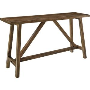 Wyngate 60 in. Rustic Brown Standard Rectangle Wood Console Table