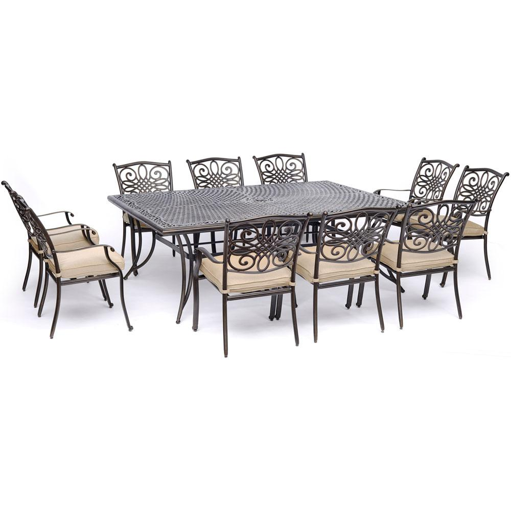 Hanover Traditions 11-Piece Aluminum Outdoor Dining Set