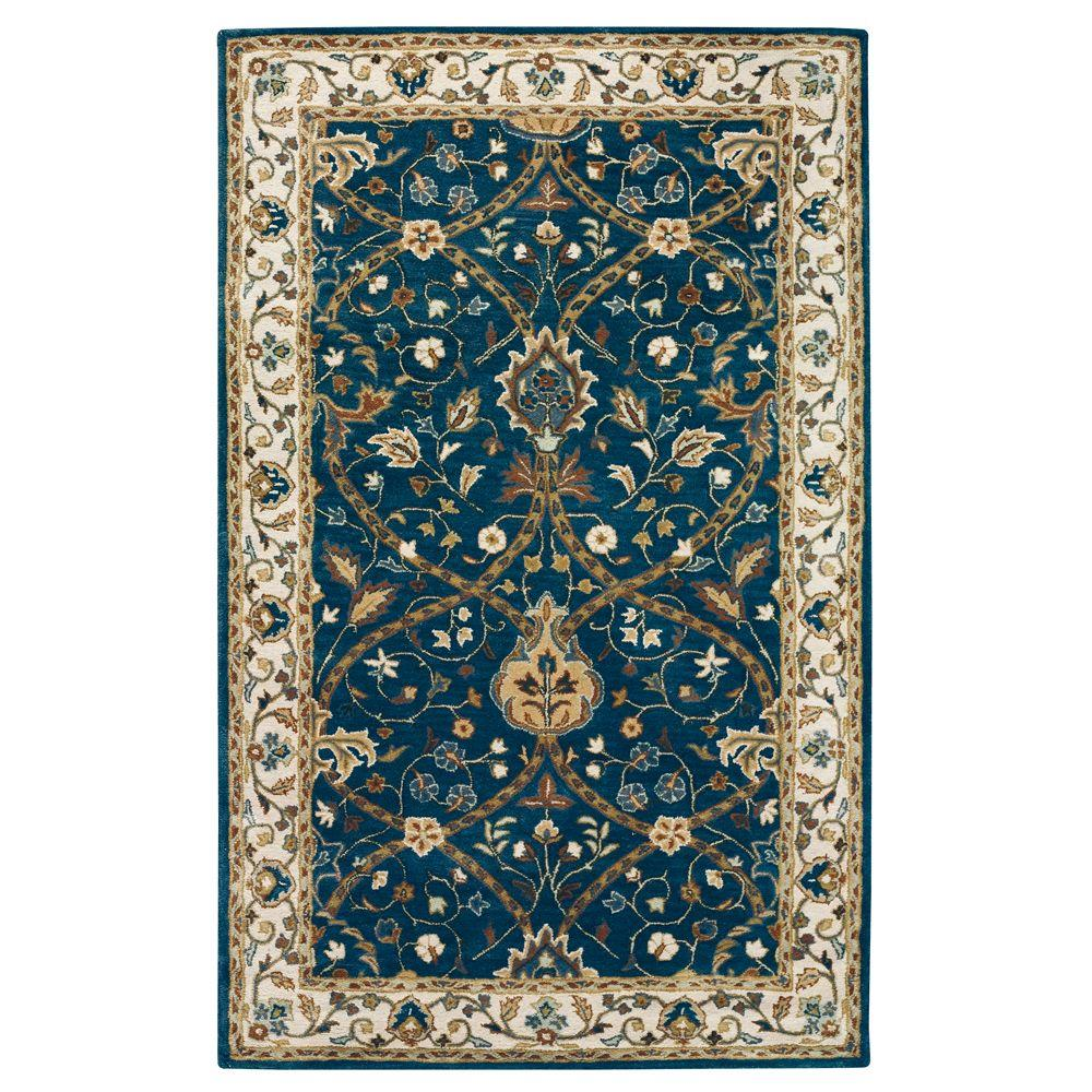 Home Decorators Collection Anatole Deep Blue/Ivory 2 ft. x 3 ft. Area Rug