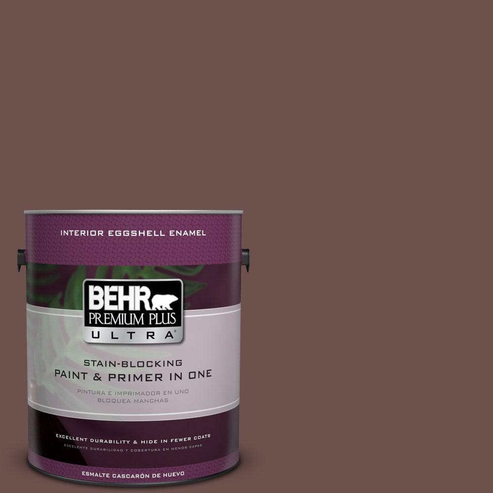 BEHR Premium Plus Ultra 1-gal. #710B-6 Painted Leather Eggshell Enamel Interior Paint