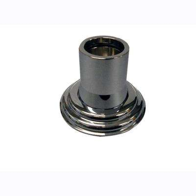 1 in. Decorative Shower Rod Flange in Polished Chrome