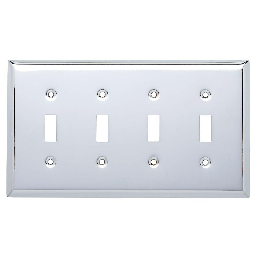 Hampton Bay Stamped Square Decorative Quadruple Switch