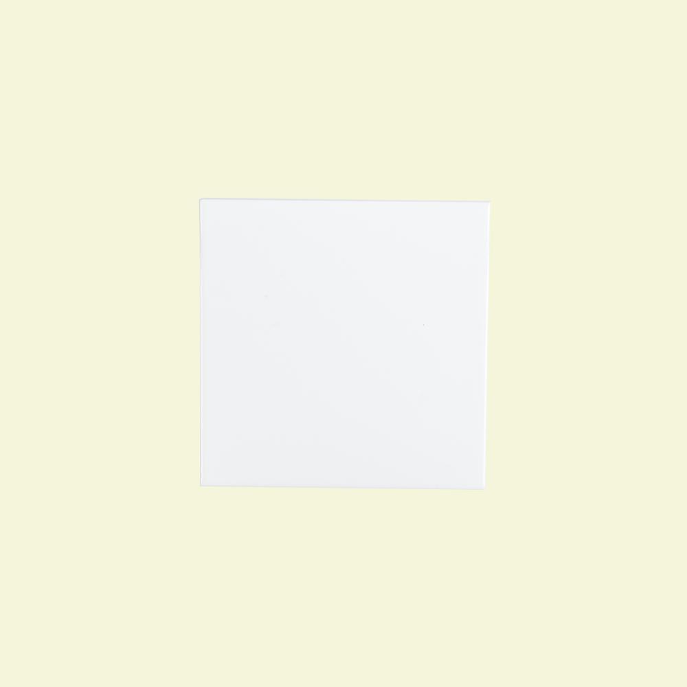 Jeffrey Court Fresh White 6 In X Ceramic Field Wall Tile